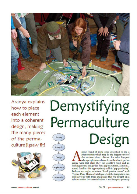 Demystifying permaculture design