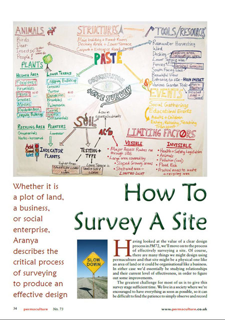How to survey a site